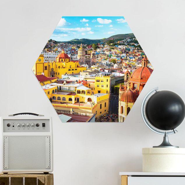 Esagono in Alu-dibond - Case colorate Guanajuato