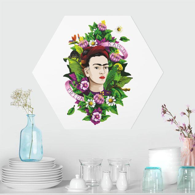 Esagono in forex - Frida Kahlo - Frida, scimmia e pappagallo