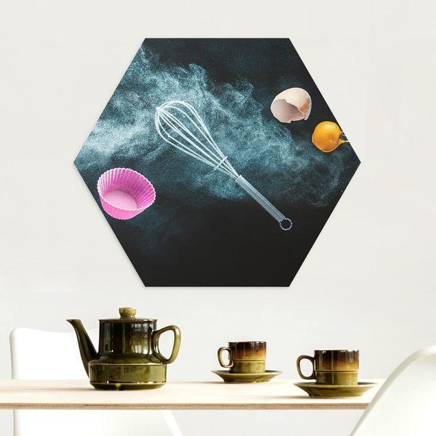 Esagono in Alu-dibond - Chaos In Cucina