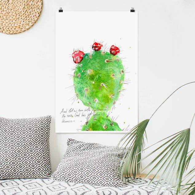 Poster - Cactus Con Bibellvers IV - Verticale 3:2