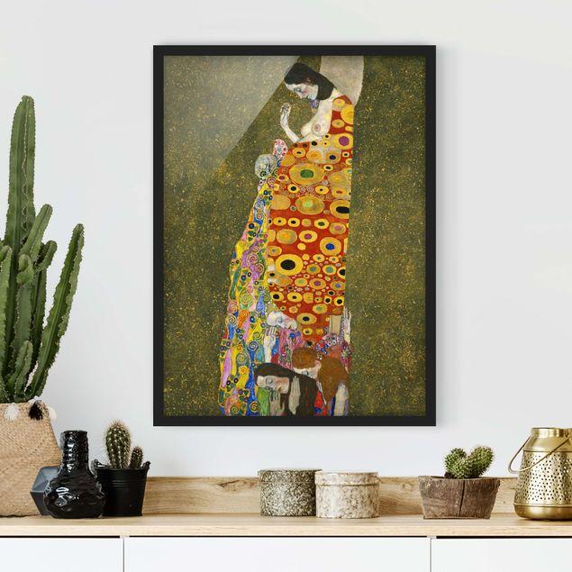 Poster con cornice - Gustav Klimt - Hope - Verticale 4:3