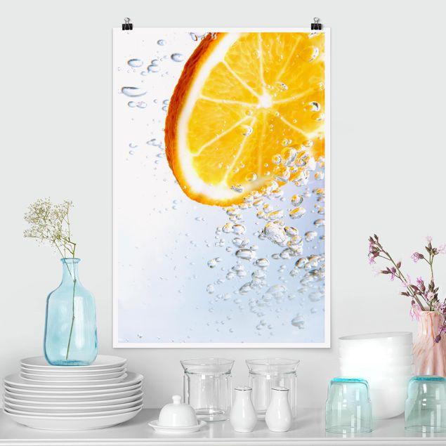 Poster - Spruzzata arancione - Verticale 3:2
