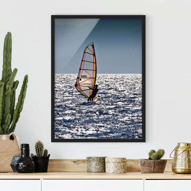 Poster con cornice - Surfing Free - Verticale 4:3