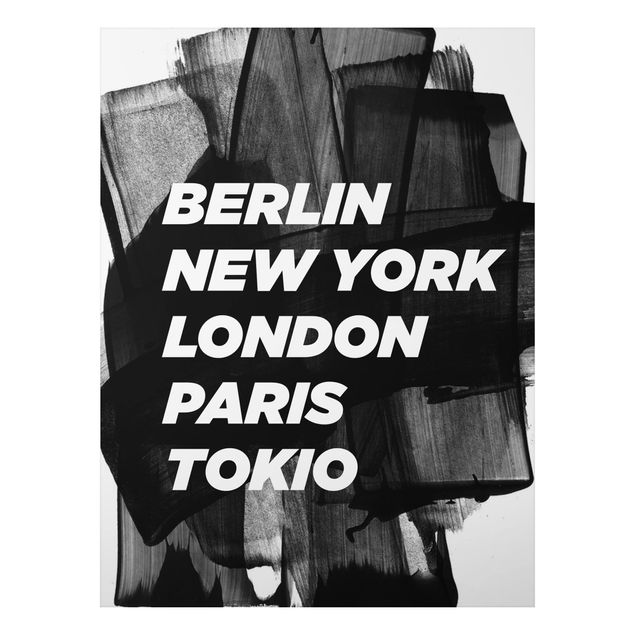 Quadro in alluminio - Berlin New York London