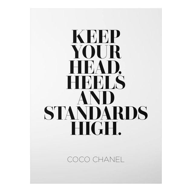 Quadro in alluminio - Keep Your Head High