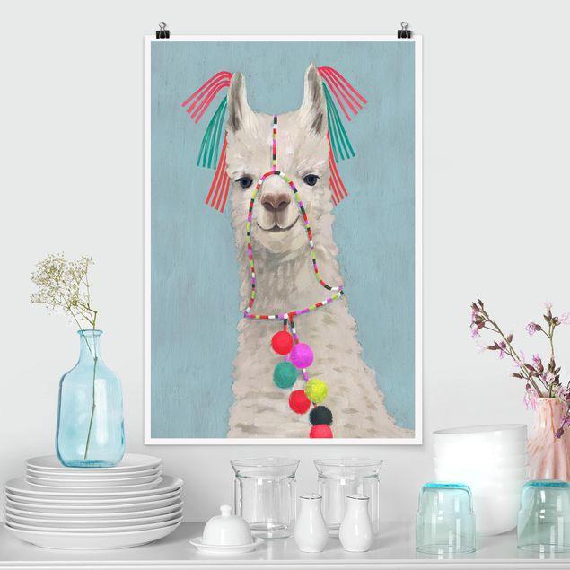 Poster - Lama con gioielli II - Verticale 3:2