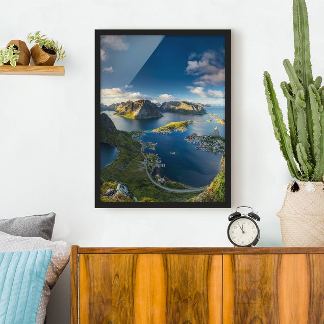 Poster con cornice - Fjord View In Reinebringen - Verticale 4:3