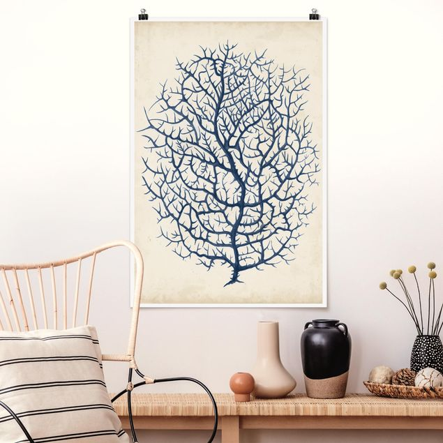 Poster - Indigo Coral I - Verticale 3:2