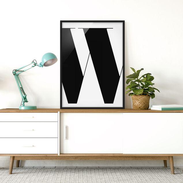 Poster con cornice - Antiqua Letter W - Verticale 4:3