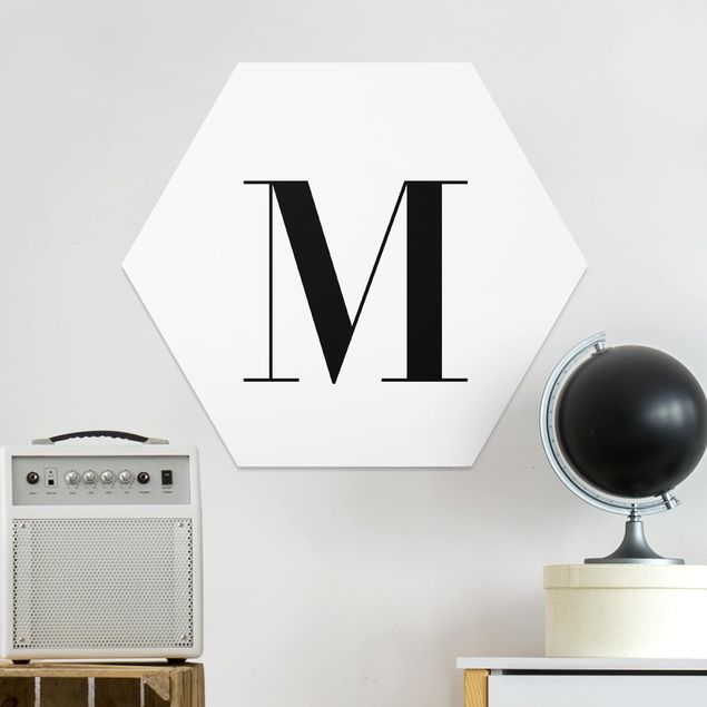 Esagono in forex - Lettera Serif Bianco M