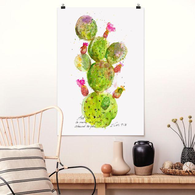 Poster - Cactus Con Bibellvers III - Verticale 3:2