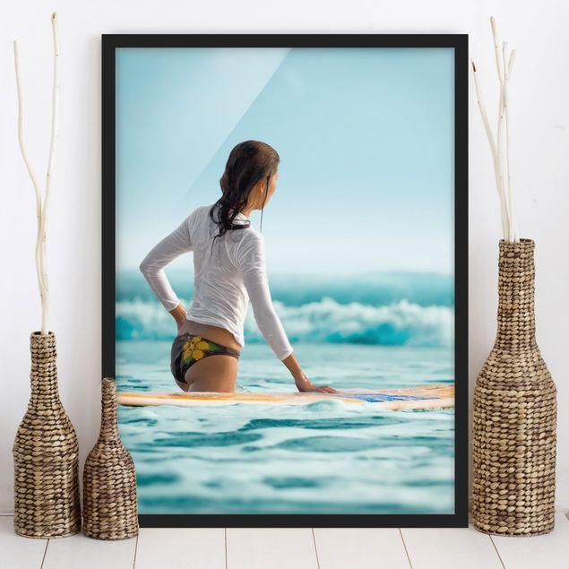 Poster con cornice - Surfer - Verticale 4:3