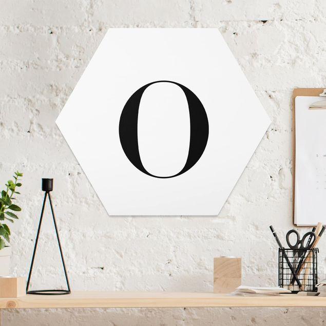 Esagono in forex - Lettera Serif Bianco O
