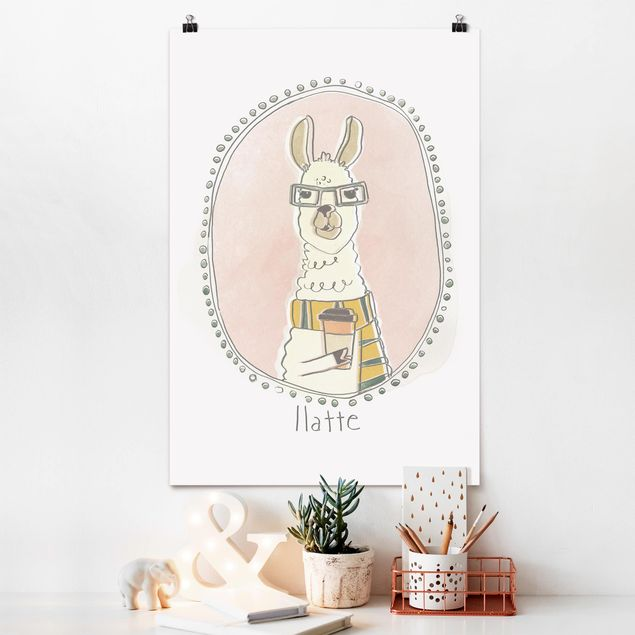 Poster - caffeina Lama - Verticale 3:2