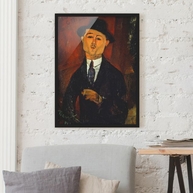 Poster con cornice - Amedeo Modigliani - Portrait Of Paul Guillaume - Verticale 4:3