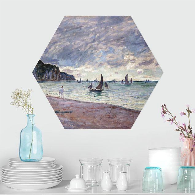 Esagono in Alu-dibond - Claude Monet - Costa di Pourville