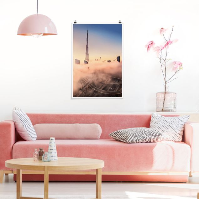 Poster - Heavenly skyline di Dubai - Verticale 3:2