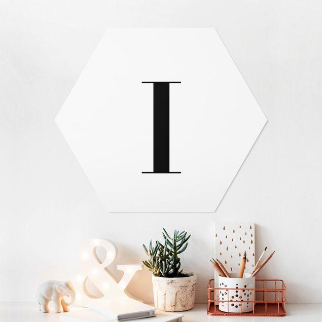 Esagono in forex - Lettera Serif Bianco I