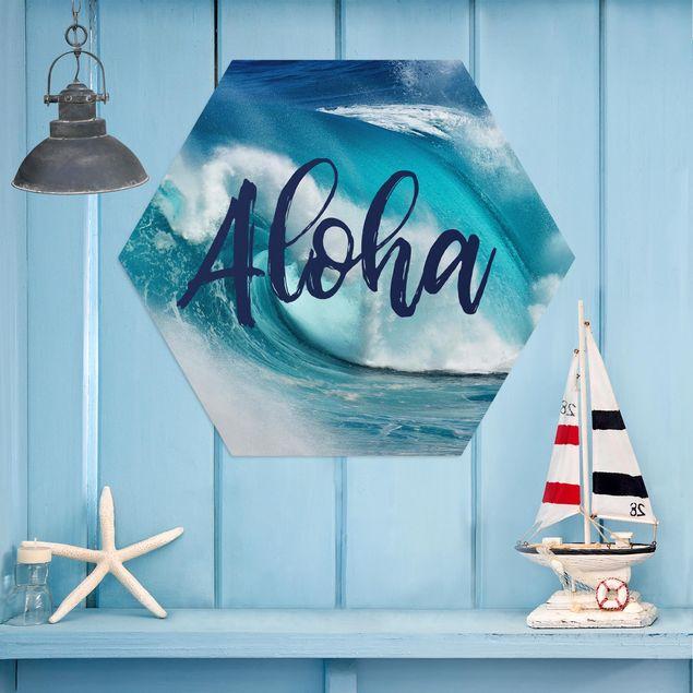 Esagono in Alu-dibond - Aloha