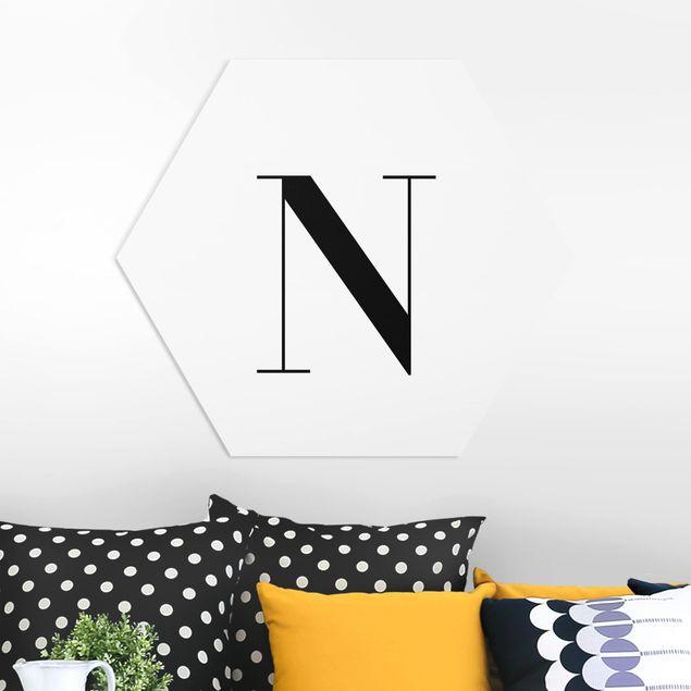 Esagono in forex - Lettera Serif Bianco N