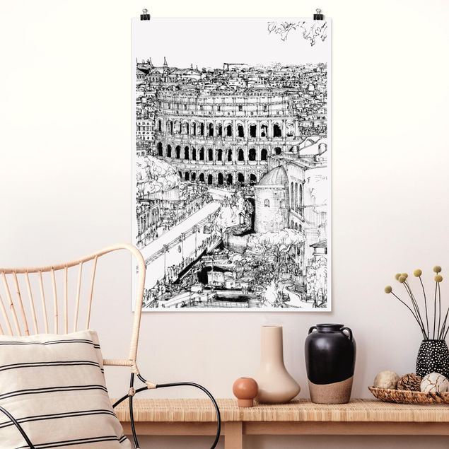 Poster - Città Studi - Roma - Verticale 3:2