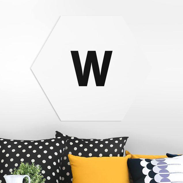 Esagono in forex - White Letter W