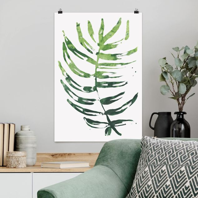 Poster - Tropical Leaves I Acquerello - Verticale 3:2