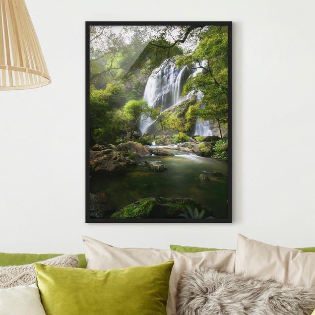 Poster con cornice - Mountain Stream - Verticale 4:3