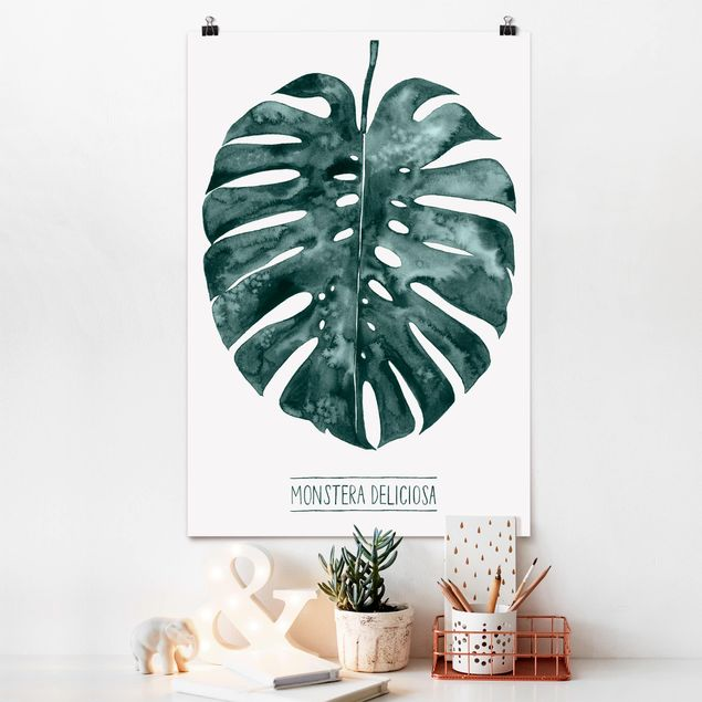 Poster - Emerald Green Monstera deliciosa - Verticale 3:2