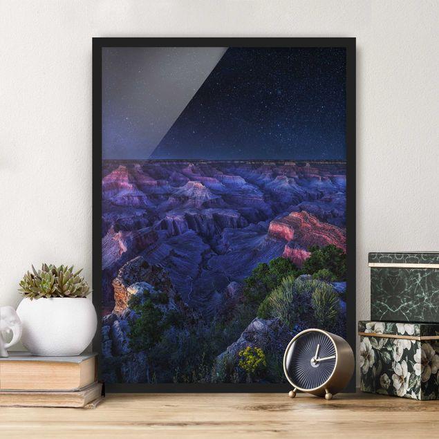 Poster con cornice - Grand Canyon Night - Verticale 4:3