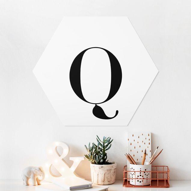 Esagono in forex - Lettera Serif Bianco Q