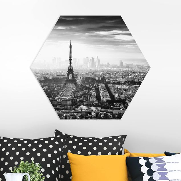 Esagono in forex - La Torre Eiffel From Above Bianco e nero