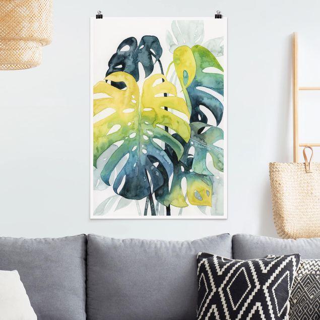 Poster - Vegetazione tropicale - Monstera - Verticale 3:2