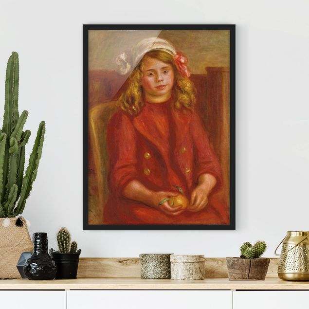 Poster con cornice - Auguste Renoir - Young Girl With An Orange - Verticale 4:3