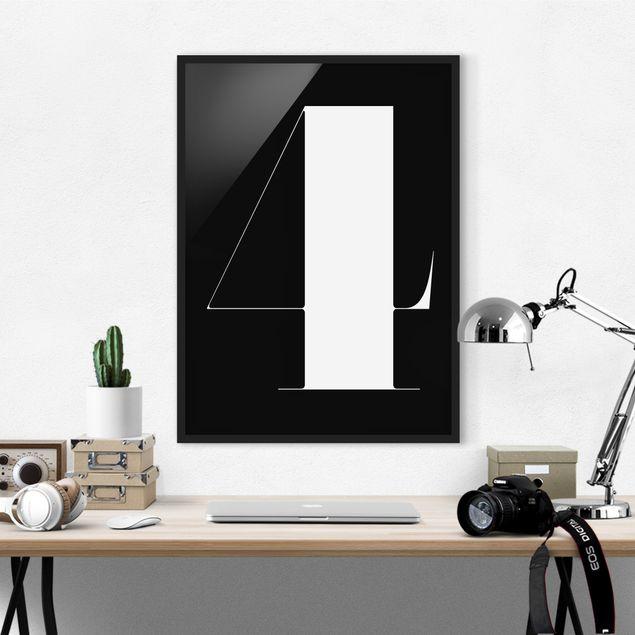 Poster con cornice - Antiqua Number 4 - Verticale 4:3