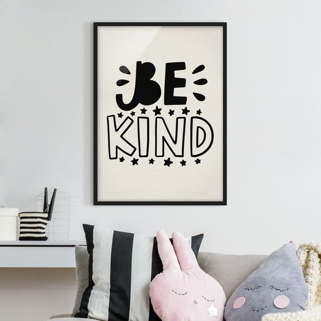 Poster con cornice - Be Kind - Verticale 4:3