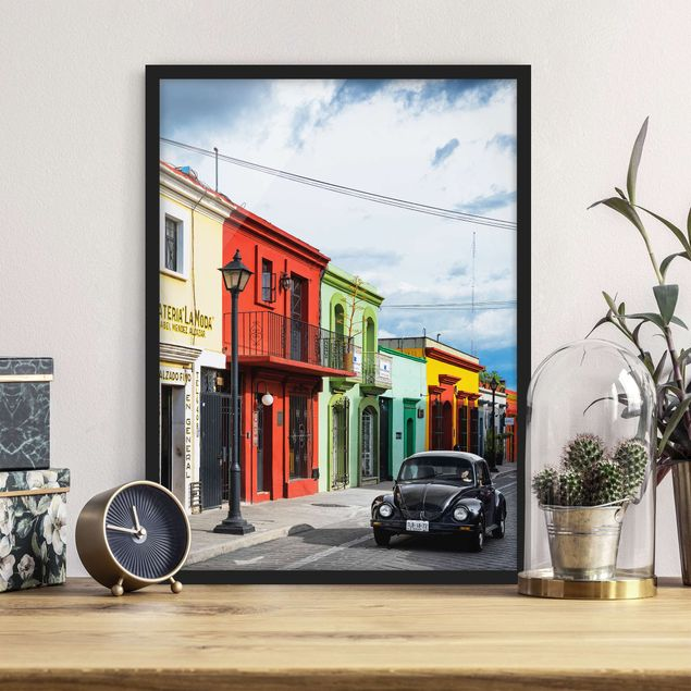 Poster con cornice - Colorful Facades Black Beetle - Verticale 4:3