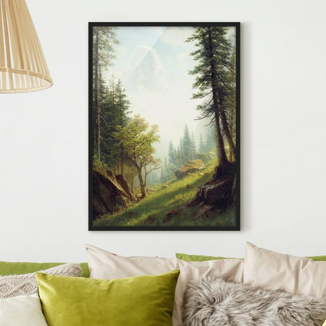 Poster con cornice - Albert Bierstadt - Among The Bernese Alps - Verticale 4:3