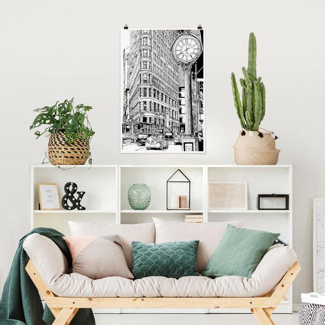Poster - Città Studi - Flatiron Building - Verticale 3:2
