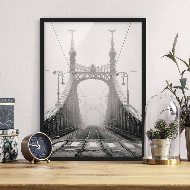 Poster con cornice - Bridge In Budapest - Verticale 4:3
