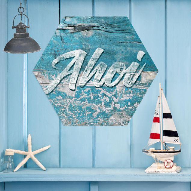 Esagono in Alu-dibond - Ahoy
