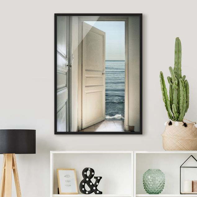 Poster con cornice - Behind The Door - Verticale 4:3