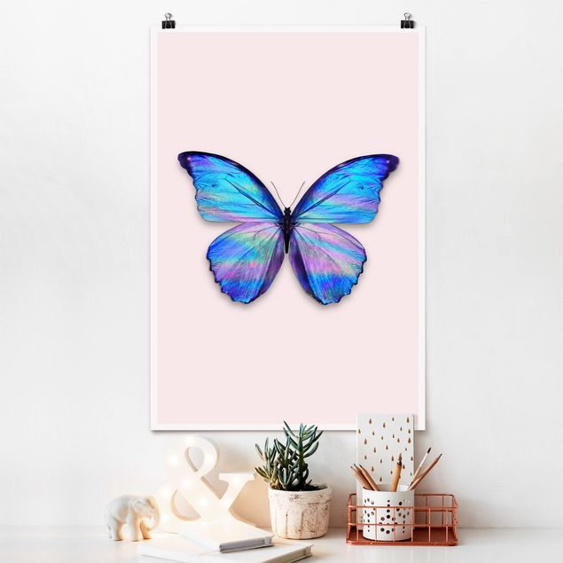 Poster - Jonas Loose - farfalla olografico - Verticale 3:2
