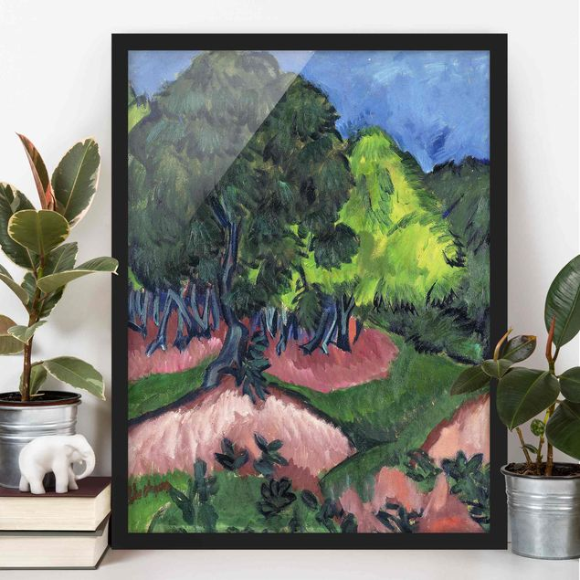 Poster con cornice - Ernst Ludwig Kirchner - Landscape With Chestnut Tree - Verticale 4:3