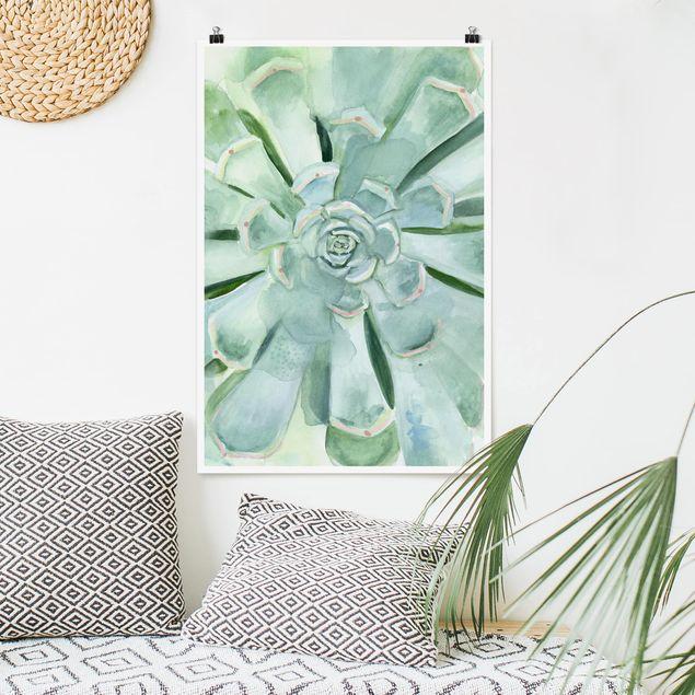 Poster - Succulente Acquerello brillante - Verticale 3:2