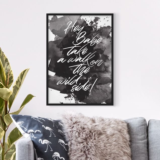 Poster con cornice - Take A Walk On The Wild Side - Verticale 4:3