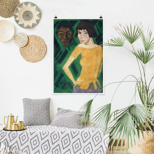 Poster - Otto Mueller - Masha con la mascherina - Verticale 3:2