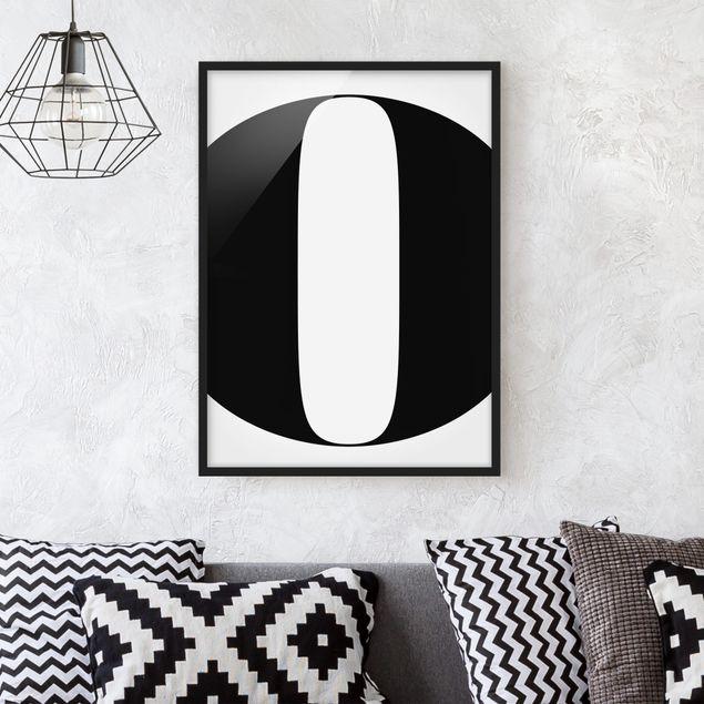 Poster con cornice - Antiqua Letter O - Verticale 4:3