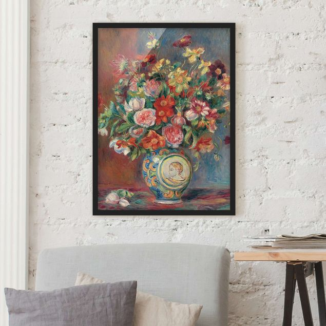 Poster con cornice - Auguste Renoir - Flower Vase - Verticale 4:3