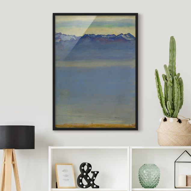 Poster con cornice - Ferdinand Hodler - Lake Geneva With Savoyer Alps - Verticale 4:3